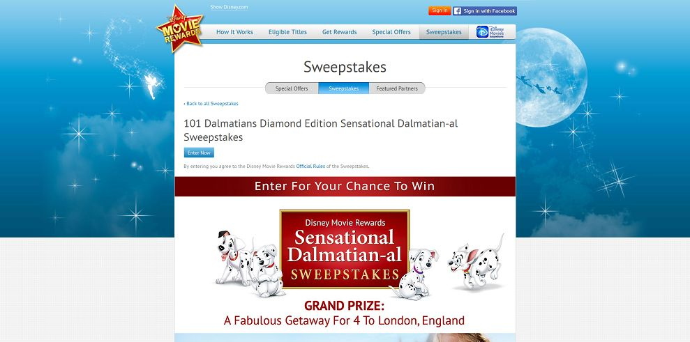 Disney Movie Rewards Sensational Dalmatian-al Sweepstakes