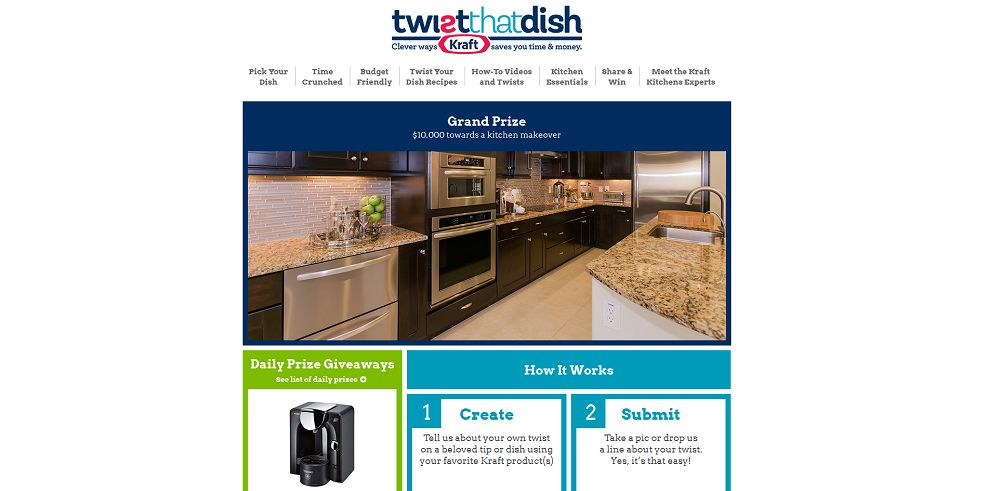 Kraft Twist That Dish Promotion