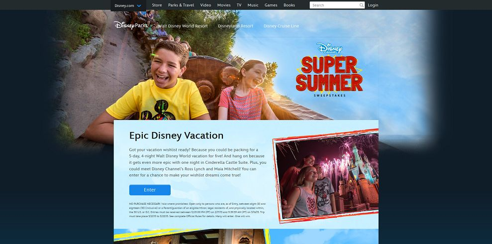 Disney Channel Super Summer Sweepstakes - Disney.com/SuperSummerSweeps