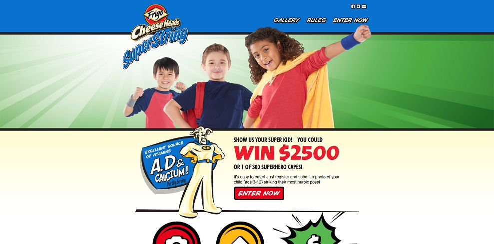 Frigo Cheese Heads Super Kid Sweepstakes