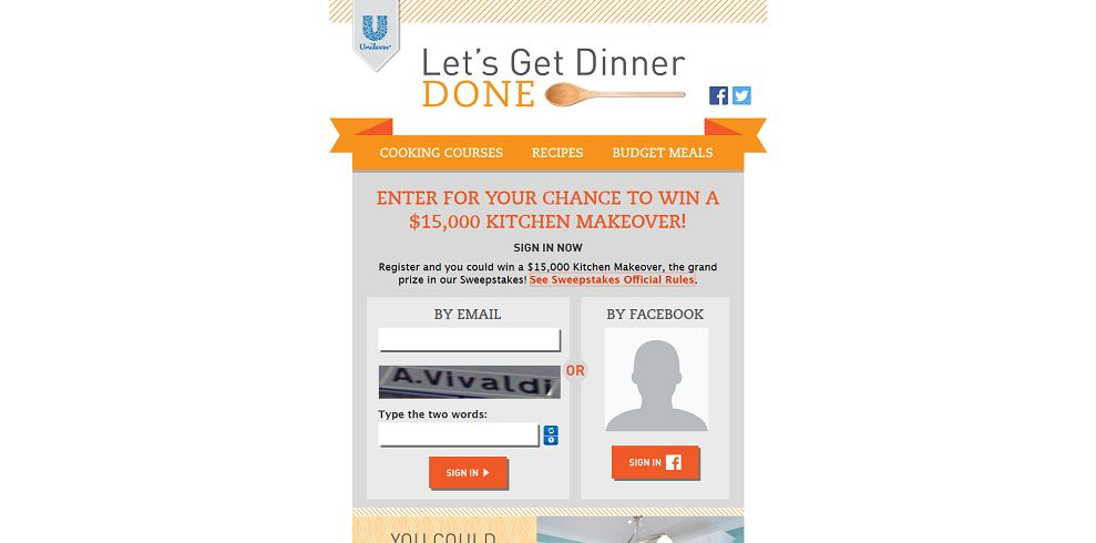 Let's Get Dinner Done Instant Win Game and Sweepstakes