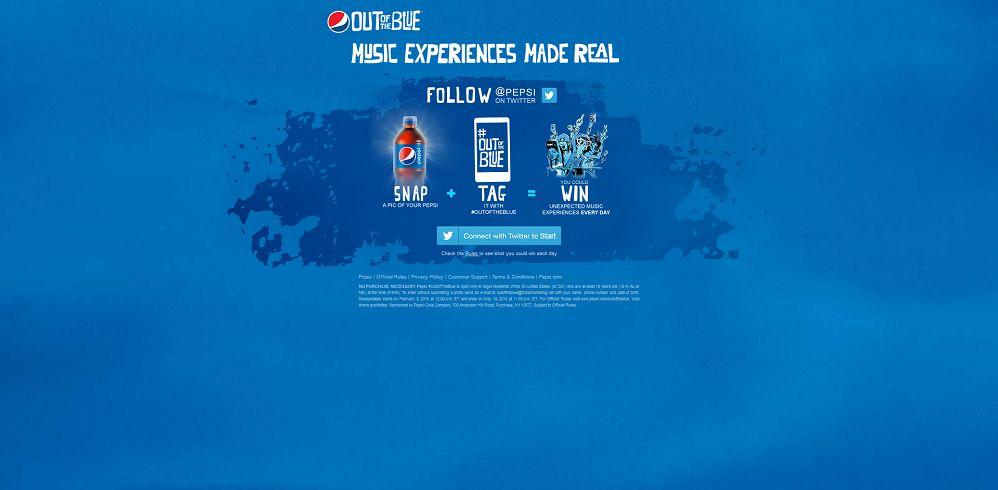 Pepsi #OutOfTheBlue Sweepstakes