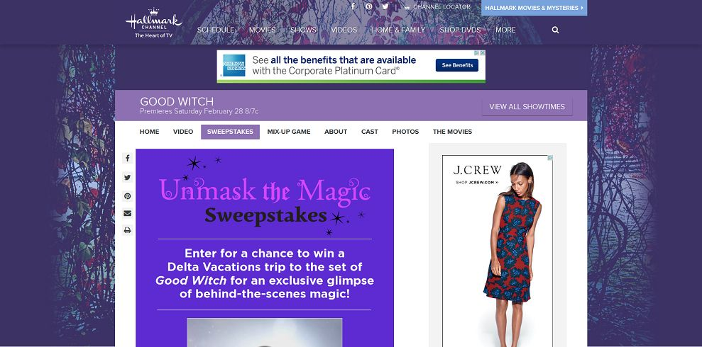 Hallmark Channel Good Witch Unmask The Magic Sweepstakes