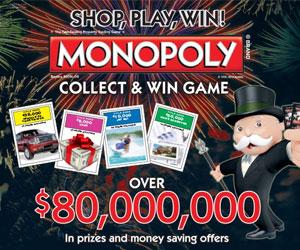 albertsons monopoly 2016 prizes