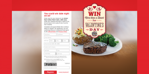 Cotton Patch Café Valentine's Day Instant Win Game