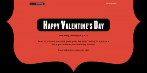 Win Ruby Tuesday For A Year Sweepstakes