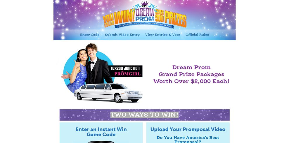OXY Promposal Instant Win Game And Contest (OXYDreamProm.com)