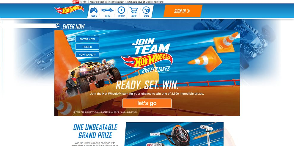 Join Team Hot Wheels Sweepstakes - HotWheels.com/JoinTeam