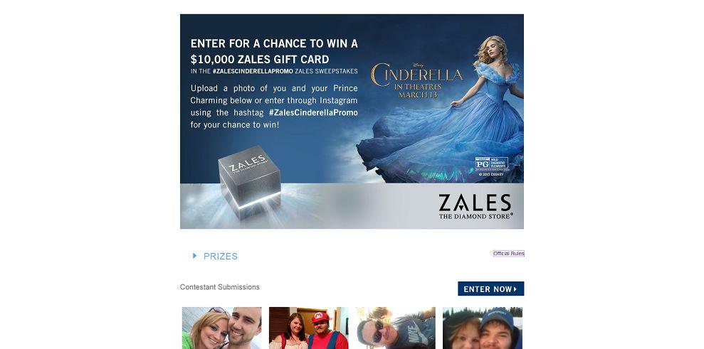 Zales Cinderella Sweepstakes - Zales.com/Cinderella