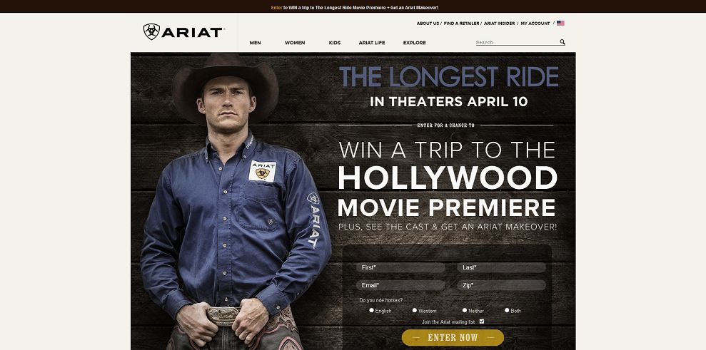 Ariat The Longest Ride Sweepstakes