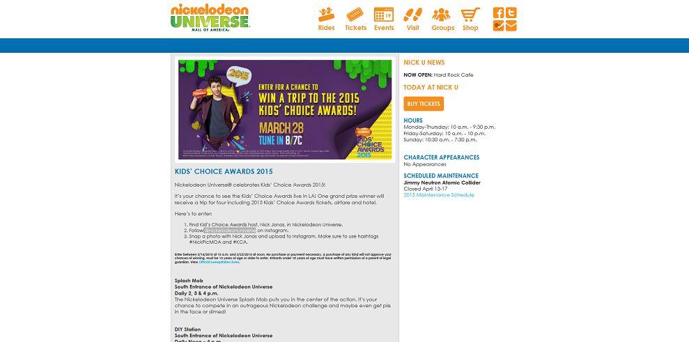 Nickelodeon Universe Mall Of America #NickPicMOA Giveaway