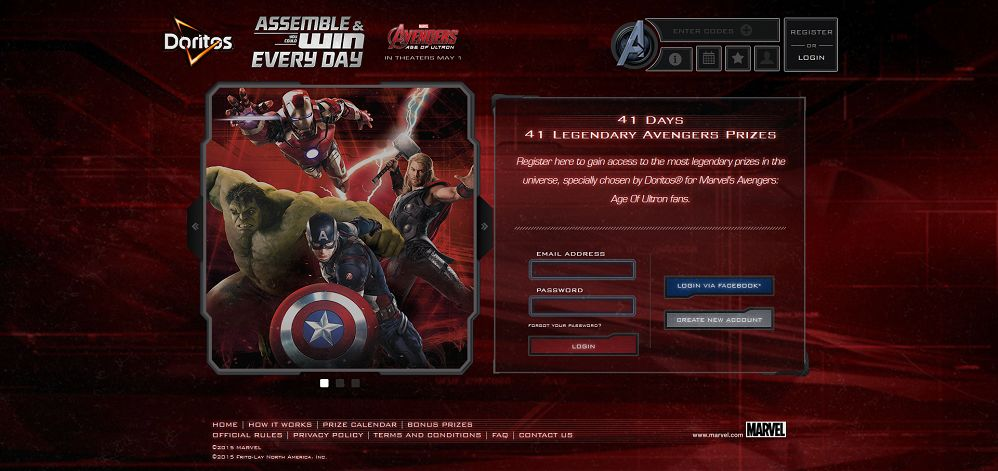 DORITOS Assemble The Avengers Promotion: Enter Your Bag Codes At Avengers.Doritos.com