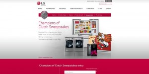 LG Electronics Champions of Clutch Sweepstakes