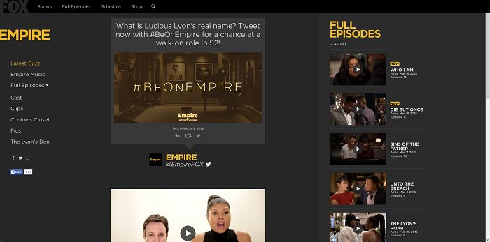 #BeOnEmpire Sweepstakes