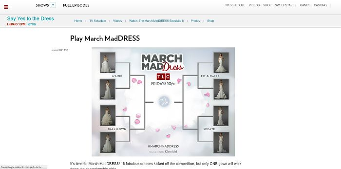 All this month, cast your votes for your favorites March MadDRESS ...