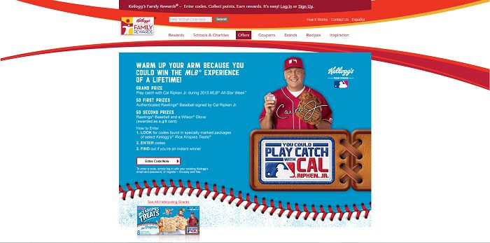 Kellogg's And MLB Play Catch With Cal Ripken Jr. Instant Win Game