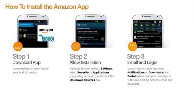 installing amazon app