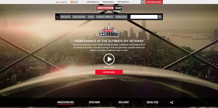 2015 Craftsman MAKEcation Sweepstakes (Craftsman.com/Makecation)
