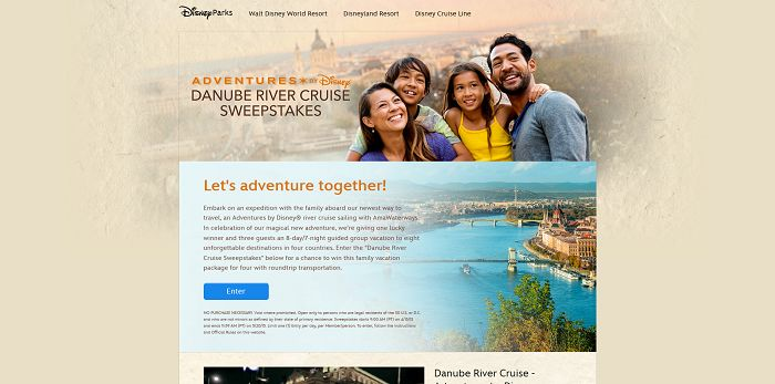 Danube River Cruise Sweepstakes