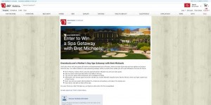 Overstock.com's Mother's Day Spa Getaway with Bret Michaels Sweepstakes