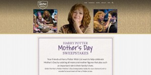 Harry Potter Mother's Day Sweepstakes