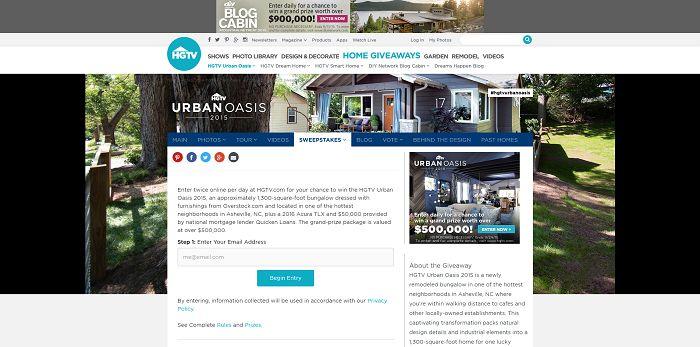 hgtv urban oasis giveaway 2015. Black Bedroom Furniture Sets. Home Design Ideas