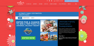 HallmarkChannel.com/Universal - Hallmark Channel Ultimate Family Destination Sweepstakes 2016