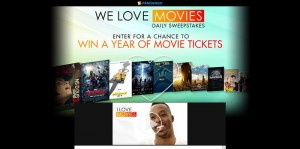 Fandango's We Love Movies Summer Sweepstakes