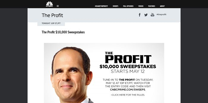 The Profit $10,000 Sweepstakes
