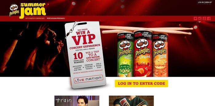 Pringles.com/Music - Pringles Summer Music Instant Win Game