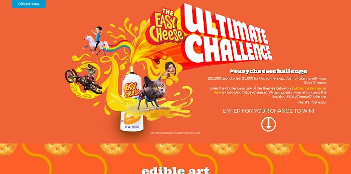 Easy Cheese Ultimate Challenge (EasyCheese.com)