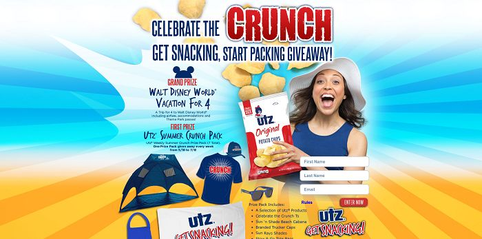 Utz Get Snacking, Start Packing Giveaway (GetUtz.com/Summer2015)