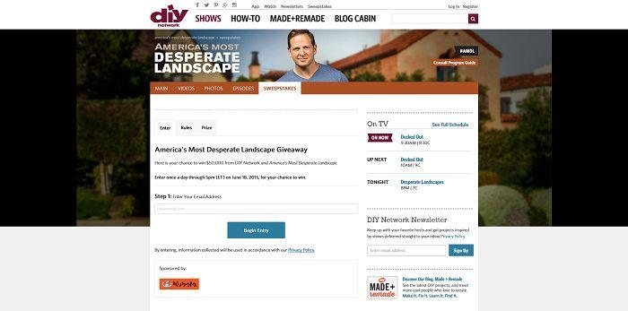 DIYNetwork.com/AMDLGiveaway - America's Most Desperate Landscape Giveaway