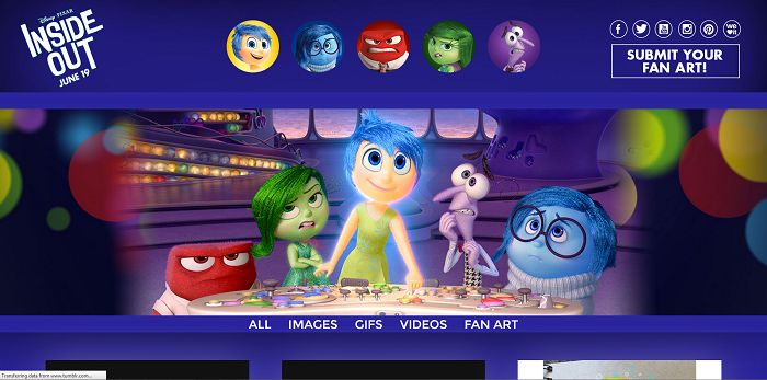 Disney Pixar Inside Out Fan Art Contest