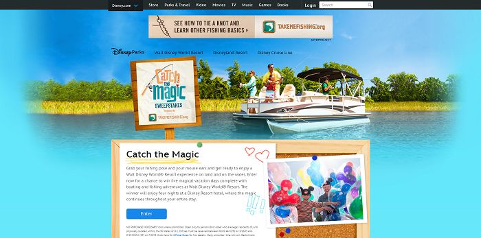 Disney.com/CatchTheMagic - Disney Catch The Magic Sweepstakes