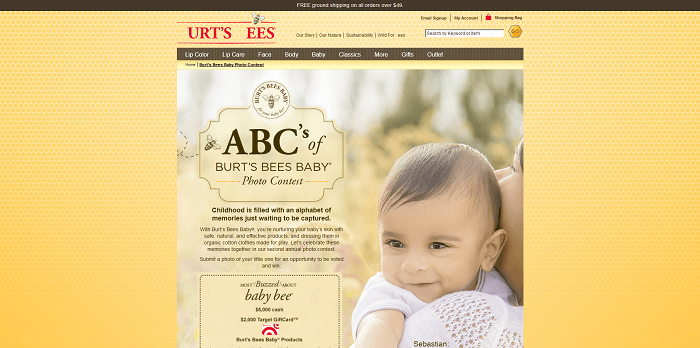 ABC's Of Burt's Bees Baby Photo Contest 2016