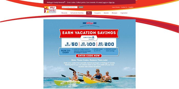 KFR.com/Travel - Kellogg's Family Rewards Travel Rewards Sweepstakes