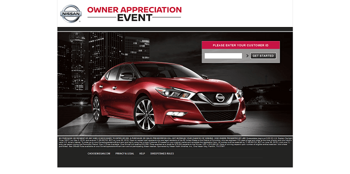 OwnerAppreciationEvent.com - Nissan Owner Appreciation Event Sweepstakes