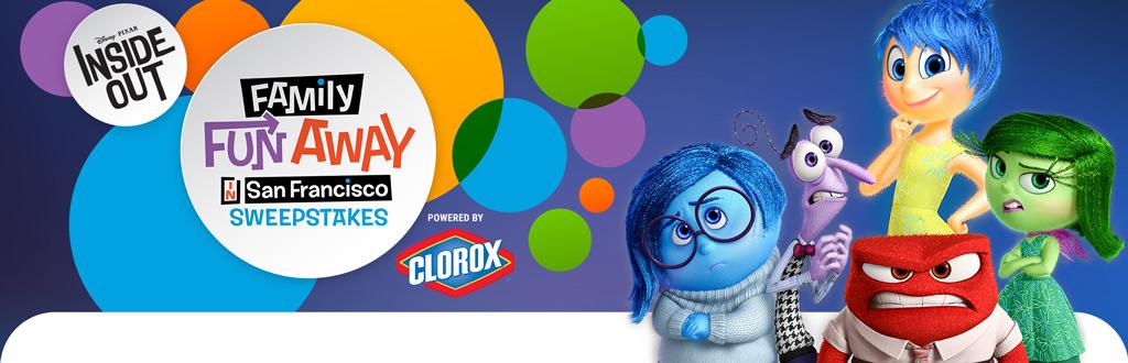 Disney Pixar Inside Out Family Fun Away In San Francisco Sweepstakes (Disney.com/SanFranSweeps)