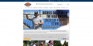 Dickies Catch With The Kids Sweepstakes