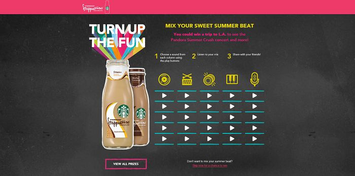 TurnUpTheFunMixer.com - Starbucks Frappuccino Turn Turn Up The Fun Mixer Sweepstakes