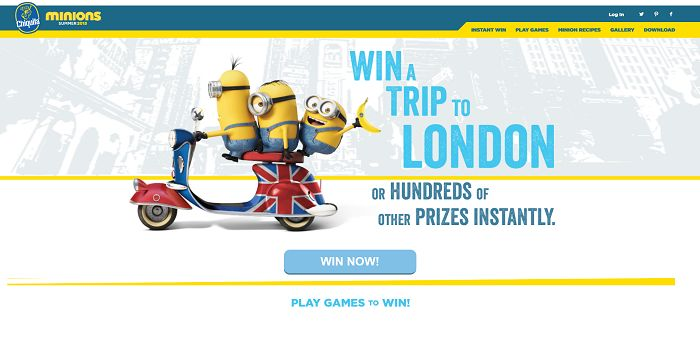 minion house party sweepstakes minions love bananas auto