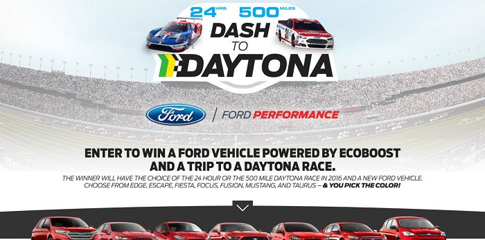 DashToDaytona.com - Ford's Dash to Daytona Sweepstakes