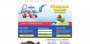 IrvingFun.com - Irving Oil Pump Up The Fun Game