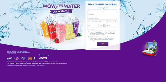KraftWowYourWater.com - Kraft Wow Your Water Promotion 2016
