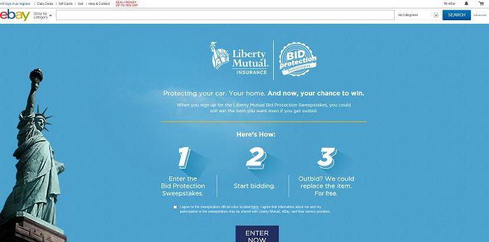Liberty Mutual Insurance Bid Protection Sweepstakes
