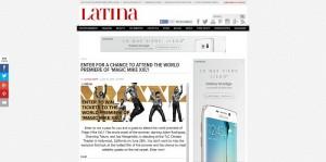 Latina's Magic Mike XXL Premiere Pass Sweepstakes