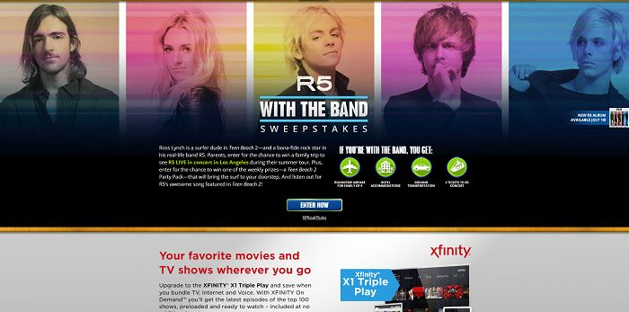 TeenBeachBeats.com - WATCH Disney Channel R5 With The Band Sweepstakes