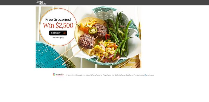 Bhg 2 500 Grocery Sweepstakes Win Free Groceries