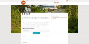 DIY Network Blog Cabin 2015 Sweepstakes